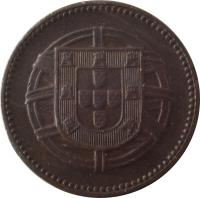obverse of 2 Centavos (1918 - 1921) coin with KM# 568 from Portugal.