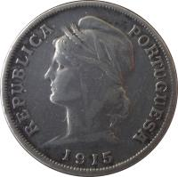obverse of 10 Centavos (1915) coin with KM# 563 from Portugal. Inscription: REPUBLICA PORTUGUESA 1915