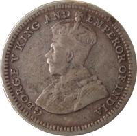 obverse of 5 Cents - George V (1926 - 1935) coin with KM# 36 from Straits Settlements. Inscription: GEORGE V KING AND EMPEROR OF INDIA