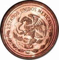 obverse of 1 Peso (1985) coin with KM# Pn233 from Mexico. Inscription: ESTADOS UNIDOS MEXICANOS
