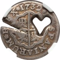 obverse of 1 Bit (1764) coin with KM# 7 from France.