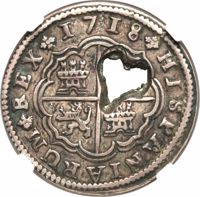 obverse of 2 Bits (1764) coin with KM# 8 from France.