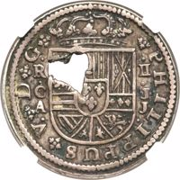 reverse of 2 Bits (1764) coin with KM# 8 from France.