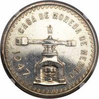 obverse of 1 Onza (1947) coin with KM# Pn196 from Mexico. Inscription: CASA DE MONEDA DE MEXICO 1947