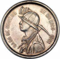 obverse of 1 Onza (1951) coin with KM# Pn198 from Mexico. Inscription: CASA DE MONEDA DE MEXICO 1951
