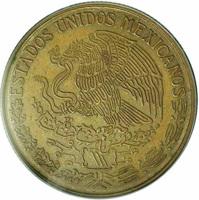 obverse of 1 Peso (1971) coin from Mexico. Inscription: ESTADOS UNIDOS MEXICANOS