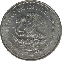 obverse of 1 Peso (1983) coin with KM# Pn228 from Mexico. Inscription: ESTADOS UNIDOS MEXICANOS