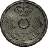 obverse of 5 Bani - Carol I (1905) coin with KM# Pn62 from Romania. Inscription: ROMANIA