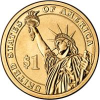 reverse of 1 Dollar - Chester Arthur (2012) coin with KM# 524 from United States. Inscription: UNITED STATES OF AMERICA $1