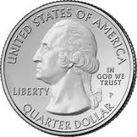 obverse of 1/4 Dollar - Hawai'i Volcanoes National Park, Hawaii - Washington Quarter (2012) coin with KM# 522 from United States. Inscription: UNITED STATES OF AMERICA LIBERTY IN GOD WE TRUST QUARTER DOLLAR