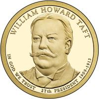 obverse of 1 Dollar - William Howard Taft (2013) coin with KM# 549 from United States.