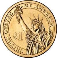 reverse of 1 Dollar - Herbert Hoover (2014) coin with KM# 573 from United States. Inscription: UNITED STATES OF AMERICA $1