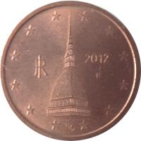obverse of 2 Euro Cent (2002 - 2017) coin with KM# 211 from Italy. Inscription: LDS RI R 2005