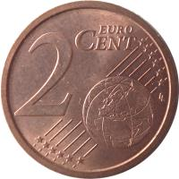 reverse of 2 Euro Cent (2002 - 2017) coin with KM# 211 from Italy. Inscription: 2 EURO CENT LL