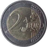 reverse of 2 Euro - Giuseppe Verdi (2013) coin with KM# 357 from Italy. Inscription: 2 EURO LL