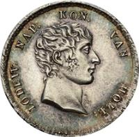 obverse of 10 Stuivers - Napoleon III (1807 - 1809) coin with KM# 30 from Netherlands.