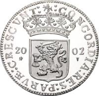 obverse of 1 Ducat - Beatrix - Gelderland - Silver Bullion (2002) coin with KM# 256 from Netherlands.