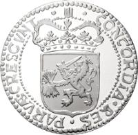 obverse of 1 Ducat - Beatrix - Holland - Silver Bullion (2003) coin with KM# 257 from Netherlands.