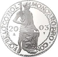 reverse of 1 Ducat - Beatrix - Holland - Silver Bullion (2003) coin with KM# 257 from Netherlands.