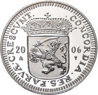 obverse of 1 Ducat - Beatrix - Groningen - Silver Bullion (2006) coin with KM# 260 from Netherlands.