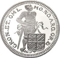 reverse of 1 Ducat - Beatrix - Groningen - Silver Bullion (2006) coin with KM# 260 from Netherlands.