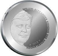 obverse of 5 Euro - Willem-Alexander - Peace Palace (2013) coin with KM# 333 from Netherlands. Inscription: WILLEM-ALEXANDER KONING DER NEDERLANDEN 2013