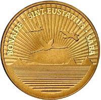 obverse of 1 Dollar - Beatrix - US Dollar Introduction (2011) coin from Netherlands Antilles. Inscription: BONAIRE · SINT-EUSTATIUS · SABA