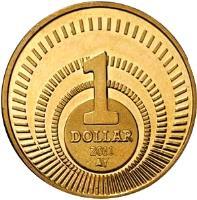 reverse of 1 Dollar - Beatrix - US Dollar Introduction (2011) coin from Netherlands Antilles. Inscription: 1 DOLLAR 2011