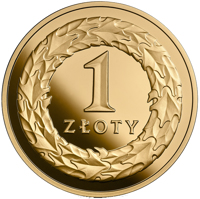 reverse of 1 Złoty - 100th Anniversary of Regaining Independence by Poland (2018) coin from Poland. Inscription: 1 ZŁOTY