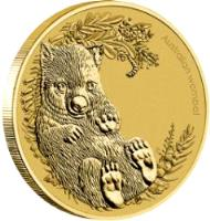 reverse of 1 Dollar - Elizabeth II - Wombat - 4'th Portrait (2013) coin with KM# 2059 from Australia. Inscription: Australian Wombat P EM