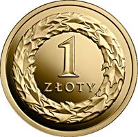 reverse of 1 Złoty - One Hundred Years of the Złoty (2019) coin from Poland. Inscription: 1 ZŁOTY