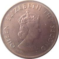 obverse of 1/12 Shilling - Elizabeth II - Battle of Hastings - 1'st Portrait (1966) coin with KM# 26 from Jersey. Inscription: QUEEN ELIZABETH THE SECOND