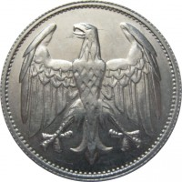 obverse of 3 Mark (1922) coin with KM# 28 from Germany.