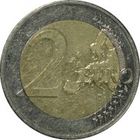 reverse of 2 Euro - 10 Years of Euro Cash (2012) coin with KM# 306 from Germany. Inscription: 2 EURO LL
