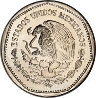 obverse of 5 Pesos (1980 - 1985) coin with KM# 485 from Mexico. Inscription: ESTADOS UNIDOS MEXICANOS