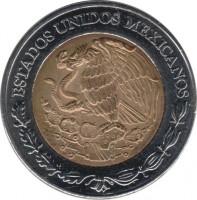 obverse of 5 Pesos - 200th Anniversary of the Independence: Ignacio López Rayón (2008) coin with KM# 894 from Mexico. Inscription: ESTADOS UNIDOS MEXICANOS