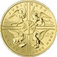 reverse of 2 Złote - Jubilee of Year 2000 (2000) coin with Y# 376 from Poland. Inscription: WIELKI JUBILEUSZ ROKU 2000