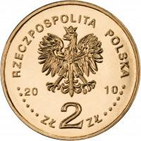 obverse of 2 Złote - Massacre of Katyn (2010) coin with Y# 721 from Poland. Inscription: RZECZPOSPOLITA POLSKA 2010 ZŁ 2 ZŁ