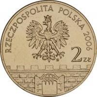 obverse of 2 Złote - Bochnia (2006) coin with Y# 543 from Poland. Inscription: RZECZPOSPOLITA POLSKA 2006 2zł
