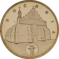 reverse of 2 Złote - Bochnia (2006) coin with Y# 543 from Poland. Inscription: BOCHNIA