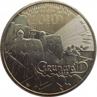 reverse of 2 Złote - Battle of Grunwald 1410 (2010) coin with Y# 732 from Poland. Inscription: 2010 GRUNWALD 1410