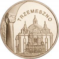 reverse of 2 Złote - Trzemeszno (2010) coin with Y# 752 from Poland. Inscription: TRZEMESZNO