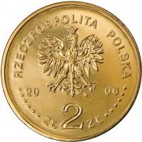 obverse of 2 Złote - Warsaw School of Economics (2006) coin with Y# 609 from Poland. Inscription: RZECZPOSPOLITA POLSKA 2006 ZŁ 2 ZŁ