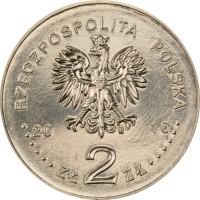 obverse of 2 Złote - Krzystof Komeda (2010) coin with Y# 727 from Poland. Inscription: RZECZPOSPOLITA POLSKA 2010 ZŁ 2 ZŁ