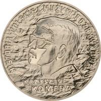 reverse of 2 Złote - Krzystof Komeda (2010) coin with Y# 727 from Poland. Inscription: HISTORIA POLSKIEJ MUSYKI ROZRYWKOWEJ KRZYSTOF KOMEDA