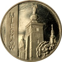 reverse of 2 Złote - Miechow (2010) coin with Y# 760 from Poland. Inscription: MIECHÓW