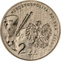 obverse of 2 Złote - Zofia Stryjenska (2011) coin with Y# 764 from Poland. Inscription: RZECZPOSPOLITA POLSKA 2011 2 ZŁ