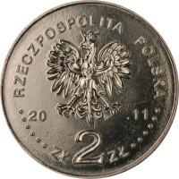 obverse of 2 Złote - Uhlan of the 2nd Republic (2011) coin with Y# 780 from Poland. Inscription: RZECZPOSPOLITA POLSKA
