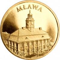 reverse of 2 Złote - Mława (2011) coin with Y# 788 from Poland. Inscription: MŁAWA