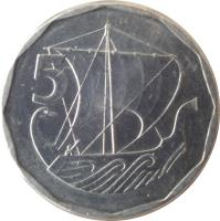 reverse of 5 Mils (1981 - 1982) coin with KM# 50 from Cyprus. Inscription: 5